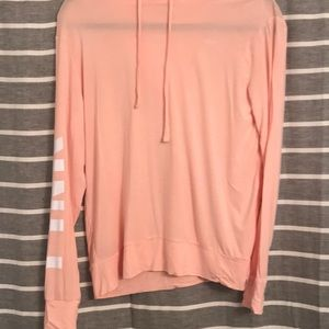 PINK lightweight hoodie with logos